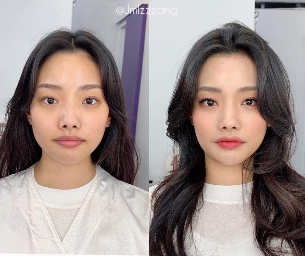 Mũi tẹt và mặt to nhưng gương mặt của cô nàng này đã thay đổi hoàn toàn nhờ tuyệt chiêu makeup - Ảnh 1.